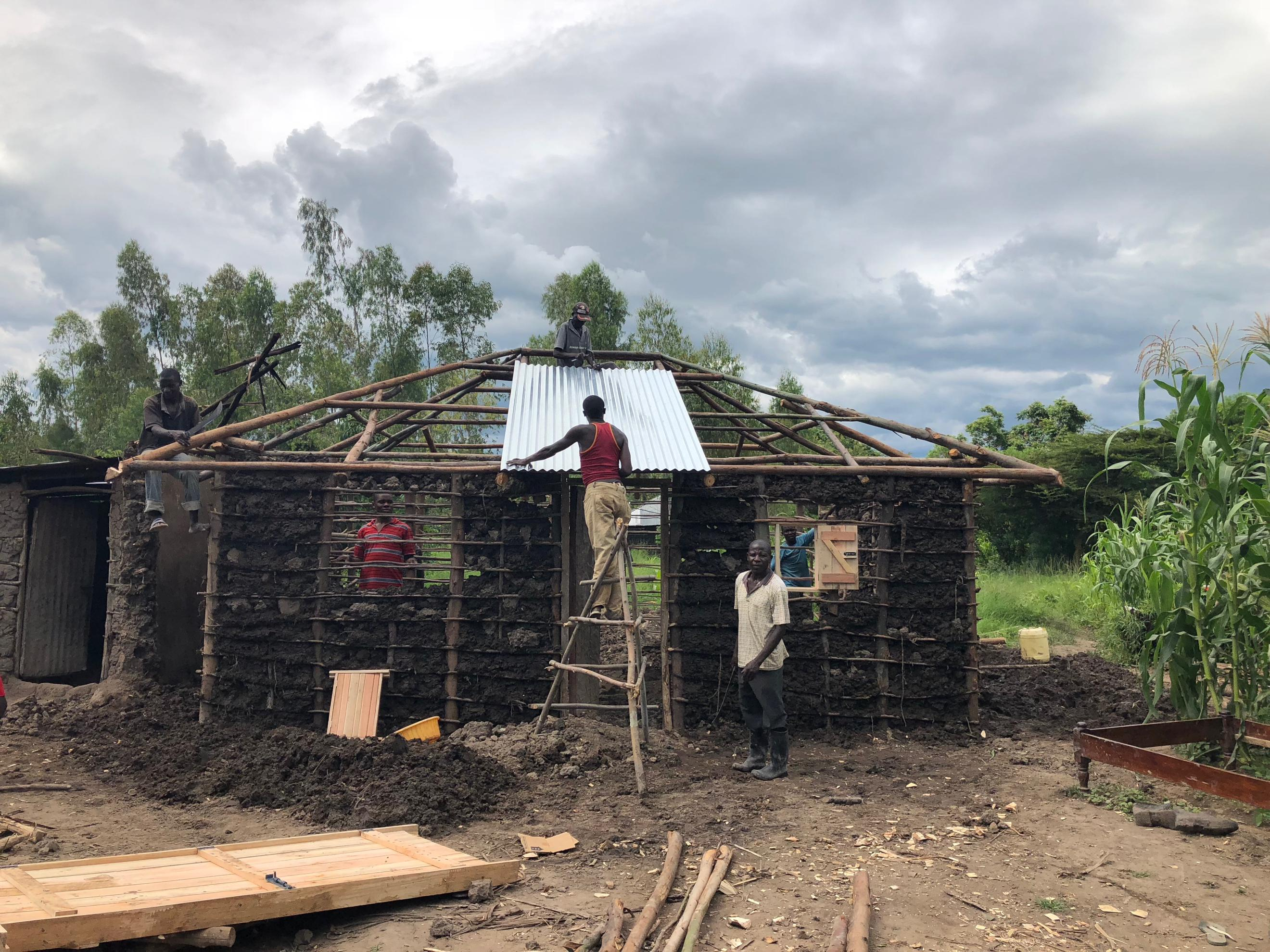 Constructing the house for Wilfrida
