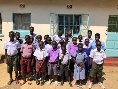 New school uniforms for orphans in Wachara